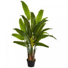 Artificial Plant 4.5 ft Travelers Silk Palm Tree Nearly Natural Home Office Deco