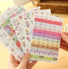 6 Sheets Rabbit Diary Book Sticker Scrapbook Calendar Notebook Label Decoration