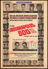 51st Annual INDIANAPOLIS 500 Mile Race__Original 1966 Trade AD promo / poster