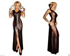 Bodenlange Damenkleider mit V-Ausschnitt für Clubwear-Anlässe