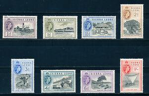 SIERRA LEONE 1956 DEFINITIVES SG210/217 MNH