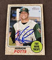 Hudson Potts Signed 2017 Topps Heritage Minors Autographed Auto Card Padres RC