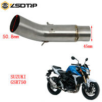 Motorcycle Exhaust Muffler Middle Mid Link Pipe Connect Tube For Suzuki GSR750