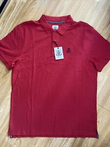 Hurlingham Polo 1875 New Men's Regular Fit Red XXL Polo Shirt RRP £60