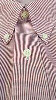 Brooks Brothers Red Stripe Long Sleeve M 15.5 x 34/35 Golden Fleece 1818