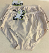 M&S Lingerie Size 12 Pure Cotton Full Brief Knickers - 2 Pairs  - Bnwt Almond