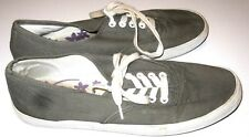 City Sneaks Tennis Shoes Canvas Gray Womens Size 8