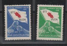 FRANCOBOLLI - 1951 REPUBBLICA TRIESTE B CROCE ROSSA MNH Z/9010