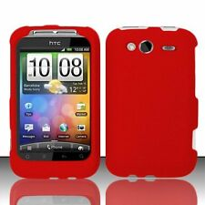 Hard Rubberized Case for HTC Wildfire S - Red