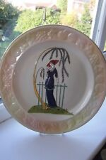 Royal Worcester Palissy Plate Penelope 24 cm Art Deco Design.