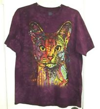 Dean Russo Abyssinian Cat The Mountain Purple size Xl Cotton Adult T-Shirt