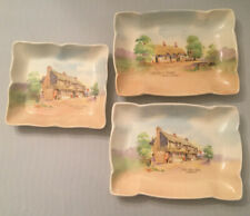 Set Of 3 Royal Doulton Pin Dishes Old English Inns Series D6072