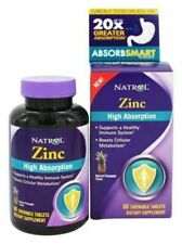 Natrol Zinc High Absorption Tablets, Natural Pineapple - 60 Count - EXP 8/19