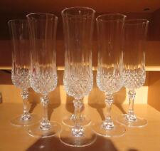 Cristal D`Arques LONGCHAMP 6 Sektgläser 20,5 cm  Top Zustand