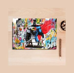 Digital Canvas Print - Superhero Batman Graffiti Street Art Home Decor Unframed