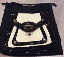 Karen Millen Black And Cream Leather Hand & Shoulder Bag With Dustbag