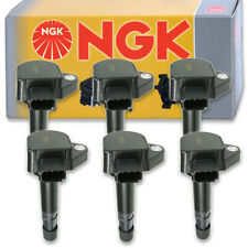 6 pcs NGK Ignition Coil for 2006-2008 Honda Ridgeline 3.5L V6 - Spark Plug vq