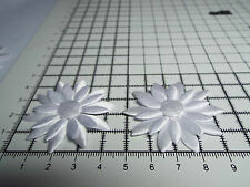 2pcs, Satin White, Big Applique- Daisy Motif,Trimmings,Wedding, 4.3 x 4.3cm