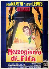 MANIFESTO, MEZZOGIORNO DI FIFA Pardners 1956 JERRY LEWIS, LEE VAN CLEEF, POSTER