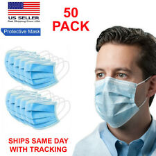 50 PCS Disposable Medical Mask Surgical Dental face mouth cover 3-ply Protection