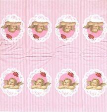 3 Mouchoirs en papier Ange et dentelle - Paper Hankies angel Serviette