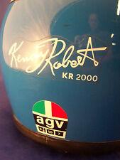 CASCO VINTAGE AGV FIBERGLASS KENNY ROBERT PER SUZUKI RG 500 YAMAHA RD HONDA  NS