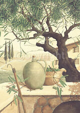 Franz Heigl: Raccolta delle Olive Fertig-Bild 50x70 Wandbild Baum mediterran