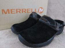 MERRELL J55934 Encore Ripple Black Leather Slip On Shoes Size US 6 M EUR 36 NWB