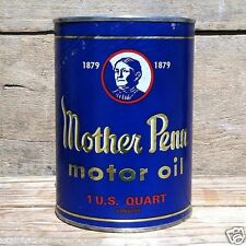2 Original MOTHER PENN CAR AUTOMOBILE Quart Oil Can Container Coin Bank 1960s
