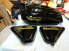 NORTON COMMANDO 850 TANK AND SIDE COVER DECALS WITH PIN STRIPE