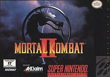 MORTAL KOMBAT II COMBAT 2 AKKLAIM SUPER NINTENDO SNES NRMT- GAME CARTRIDGE