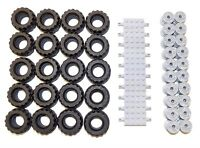 ☀️NEW! Lego 37 X 18 Tire, Wheel and Brick Axles Bulk Lot - 50 Pieces Total