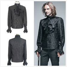 Devil Fashion Vampire Victorian Shirt Top Blouse With Removable Tie SHT01002