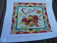 Handpainted  Salsa Needlepoint Canvas