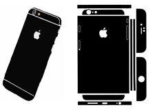 Matt Black Skin Wrap Sticker Cover Case for iPhone 6 plus & 6S plus