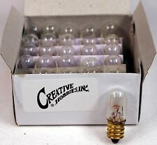 15811 Mini Tubular Night Light Bulbs, 4 Watt, E12 Candelabra Base, 25 Piece Box