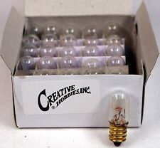 15811 Mini Tubular Night Light Bulbs, 4 Watt, E12 Candelabra Base, 25 Piece Box