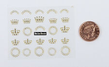 Gold Crowns Chains 3D Design Nail Art Sticker Decal UV Acrylic Decoration