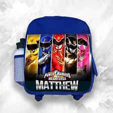 Personalised Kids Backpack Any Name Power Rangers Boys Childrens School Bag 2