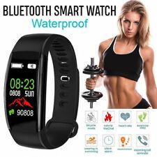 IP68 Wasserdicht Smartwatch  Pulsuhr Schrittzähler Blutdruck Armbanduhr