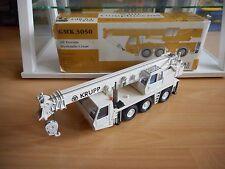 """Conrad Grove Crane GMK 3050 """"KRUPP"""" in White on 1:50 in Box"""