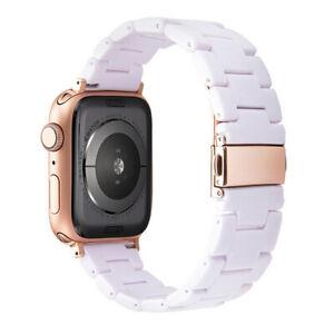 Resin Wrist Watch Band iWatch Strap Bracelet For Apple Watch Series 7 6 5 4 3 SE