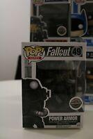 Funko POP Games Fallout - POWER ARMOR GAMESTOP EXCLUSIVE Black & White NEW # 49