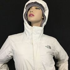 THE NORTH FACE Hyvent 550 Large 14/16 Hooded Jacket White Full Zip Belt