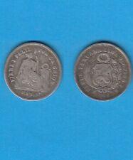 Pérou Lima 1 Dinero 1866 en argent Silver coin