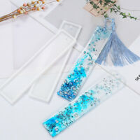 1pc Transparent Silicone Bookmark Mold Craft Jewelry Making DIY Handmade