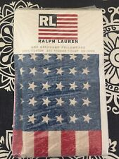 Ralph Lauren Polo USA American Flag Vintage Pillowcase New In Package