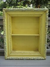 """Antique Shadow Box 3-Tier Ornate Frame Wooden Shadowbox 27.25"""" H 23"""" W 5.5"""" D"""