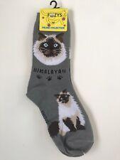 New Himalayan Cat Gray Grey Crew Socks Women's Size 9-11 Foozys