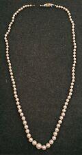 Perlenkette sauberer Verlauf Akoyaperlen Salzwasserperlen Silberschließe, 835